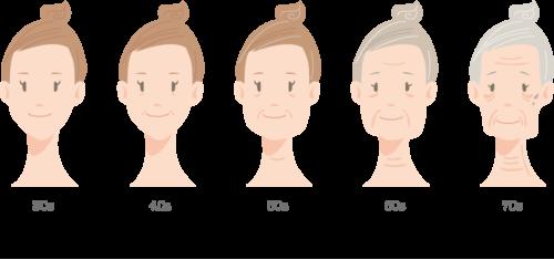 肌 女性 aging-of-the-woman