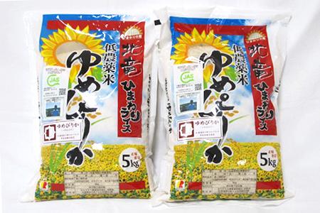 ふるさと納税 北海道北竜町 【新米10kg】ゆめぴりか 低農薬米