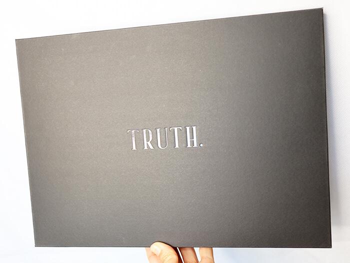TRUTH. パワーストーン付きオーガニックコットンブラ